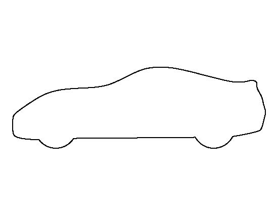 blank race car templates - sports car pattern use the printable outline for crafts
