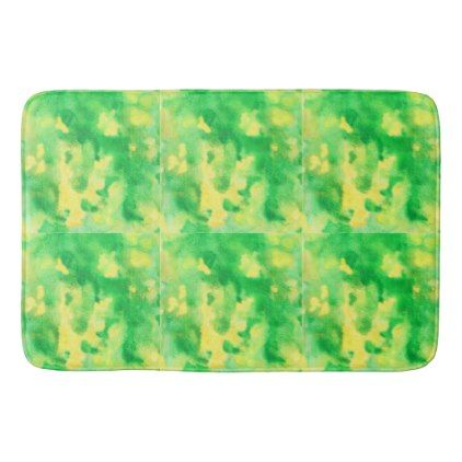 Yellow Green Large Bath Mat - spring gifts beautiful diy spring time new year
