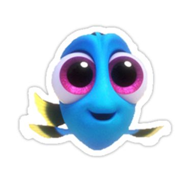 Finding dory sticker sticker by jesskoen