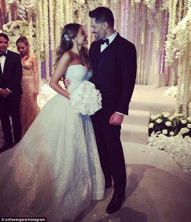 Just married: Sofia Vergara shared  Instagram snaps on Sunday from her wedding to Joe Manganiello in Florida