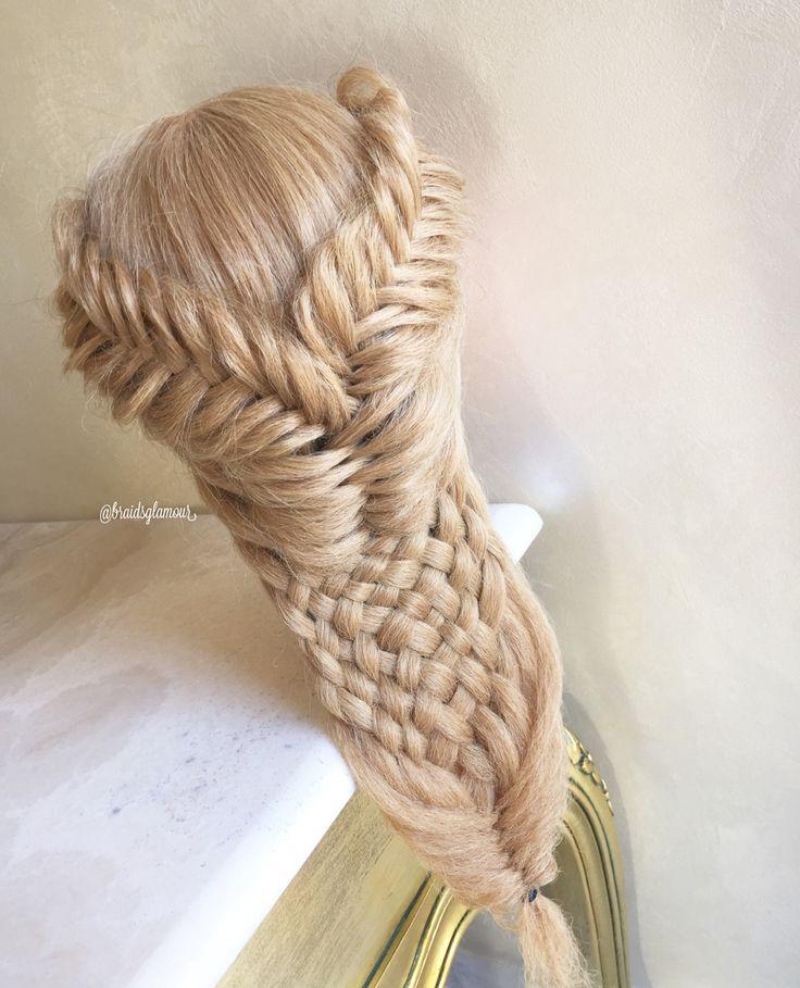 Fishtail braids/woven braid                              …