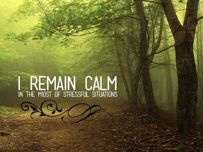 Free Affirmation Wallpaper - I remain calm in the midst of stressful situations