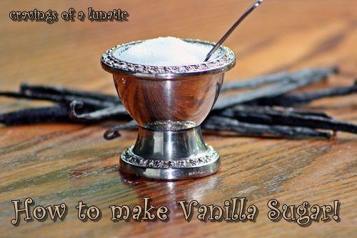 Vanilla Sugar | Cravings of a Lunatic  Using regular sugar & Vanilla beans  puts a delicious twist on any recipe using sugar!