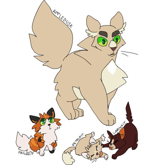 Nifty Senpai Warrior Cat Designs