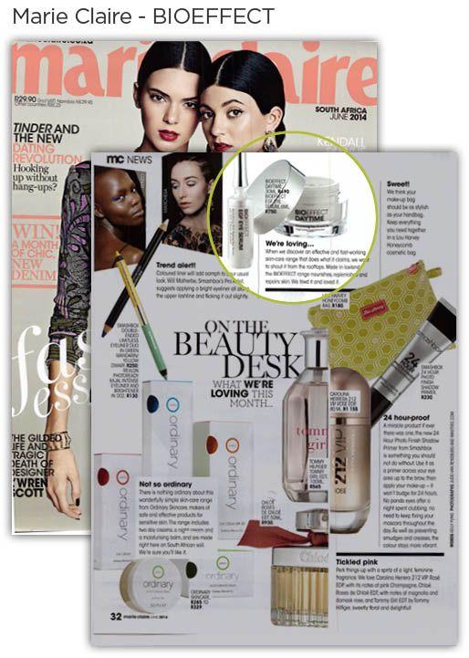 BIOEFFECT in Marie Claire magazine.