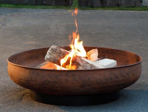 Extra Large Fire Pit Wood Burning 35 Steel Bowl Patio Round