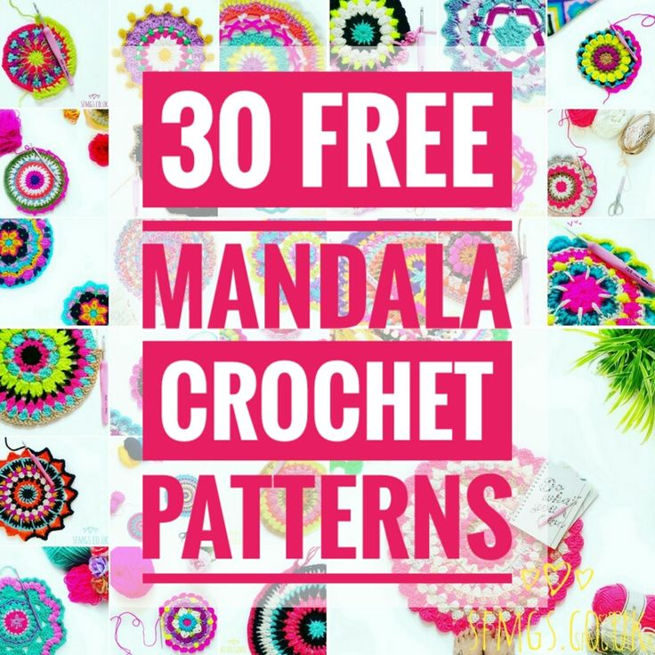 30 free bright, bohemian mandalas to crochet... A round-up of SFMGS Mandala Monday free crochet patterns so far.  So if you have been following me for a little while now, you will know that every Mond
