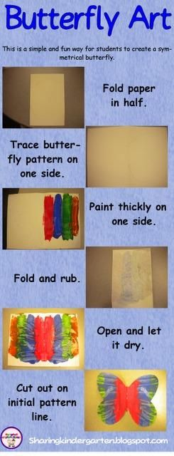 oldie but goodie...need to remember some of these for the end of year one day lessons...Butterfly symmetry