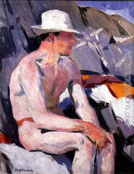 Francis Campbell Boileau Cadell, Bather in a White Hat
