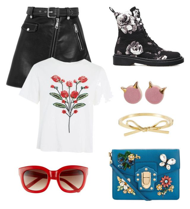 """Vol 005"" by firliourellonica on Polyvore featuring Maje, Topshop and Dolce&Gabbana"