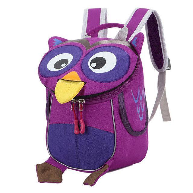 Aged 1-3 Toddler backpack safe kids baby bag cute animal owl children backpacks kindergarten school bag mochila escolar