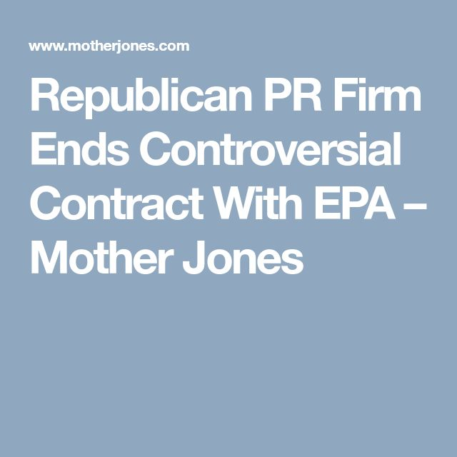 Mother Jones first reported on Definers' EPA contract on Friday. Later that day, the New York Times reported that an employee at the firm had filed a series of Freedom of Information Act requests seeking records from EPA staffers who had been critical of EPA administrator Scott Pruitt. The controversy continued to grow over the weekend. On Tuesday, two Democratic senators, Sheldon Whitehouse and Kamala Harris, called for the contract to be canceled. The senators quickly got their wish.