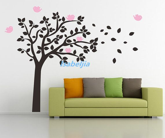 Wall Decal Sticker Wall Decals Park Tree Birds Bird By Isabeljia Part 88