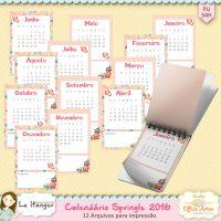 Calendário 2016 Springls by Karina Urso e Lu Ifanger