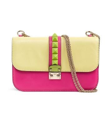 Valentino Colorblock Flap Shoulder Bag 46