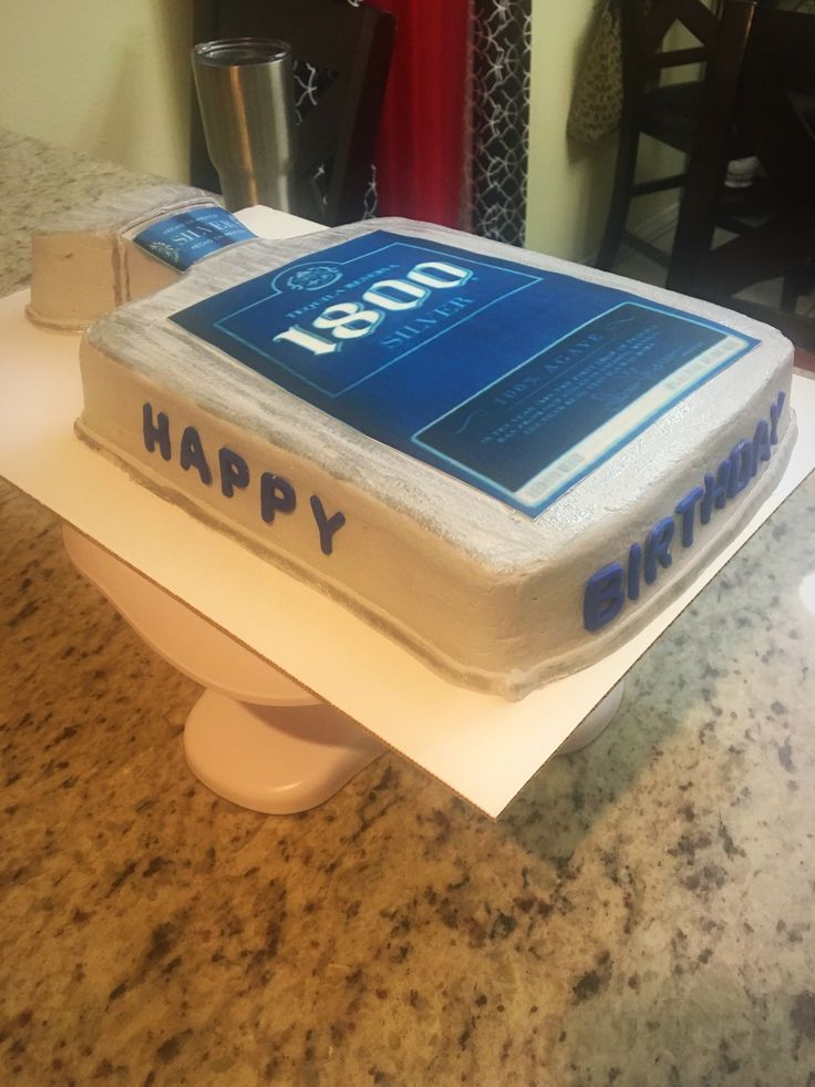 Tequila 1800 silver birthday cake