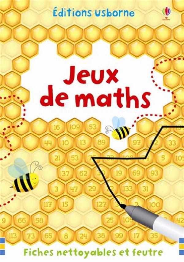 Jeux de maths de Sarah Khan Usborne dans la collection Fiches-Jeux