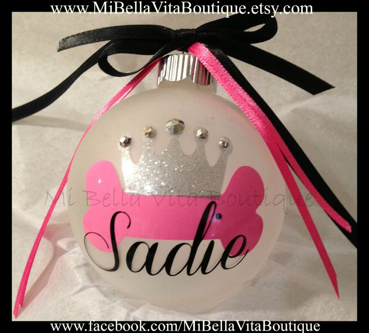 Pet Christmas Ornament Personalized Glass by MiBellaVitaBoutique, $8.00