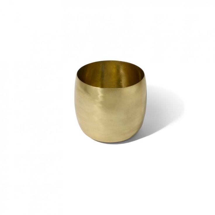 Lightly | Brass Planter - keep plant in corner