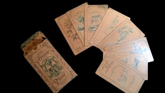 Full Gothic Tarot Card Set  78 cards  Printable  by SweetBootique, $19.00
