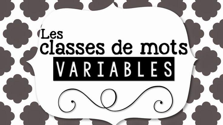 La classe de Karine: Classes de mots