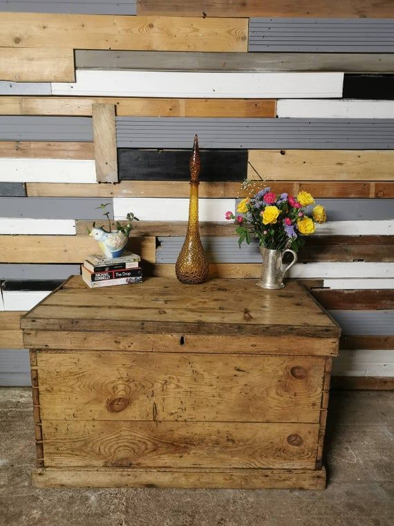 Blanket Box Toy Chest Wooden Trunk