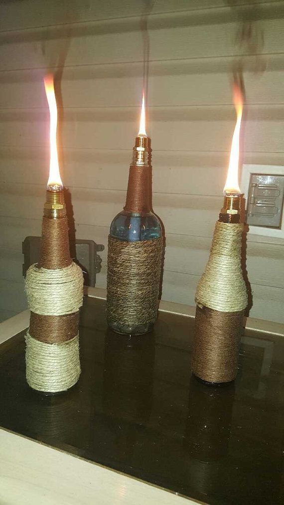 Table top tiki torches by FlamminTorches on Etsy