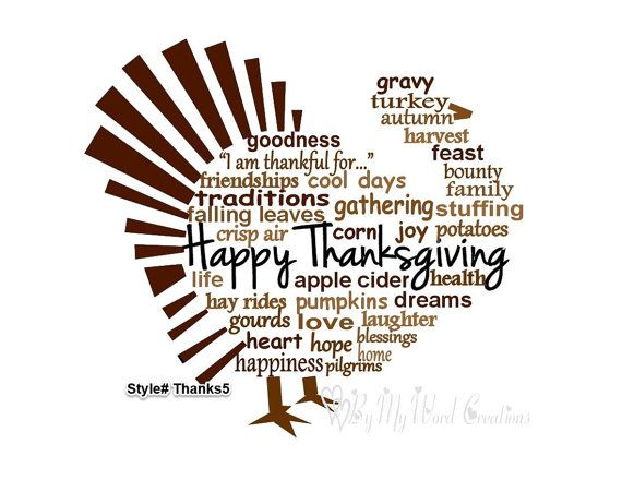 Handmade Thanksgiving Turkey word art by ByMyWordCreations on Etsy, $20.00