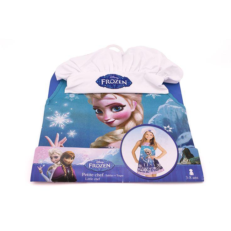 Protégée et à croquer pour cuisiner en famille avec ce tablier et cette toque Reine des neiges  Les fans d'Elsa vont adorer ce kit de petit chef et ne voudront plus quitter la cuisine.