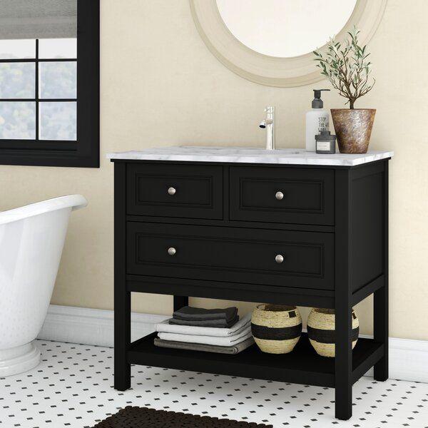 Charlton Home Voss 36 Single Bathroom Vanity Set Reviews Wayfair Black Vanity Bathroom 42 Inch Bathroom Vanity Bathroom Vanity 36 inch black bathroom vanity