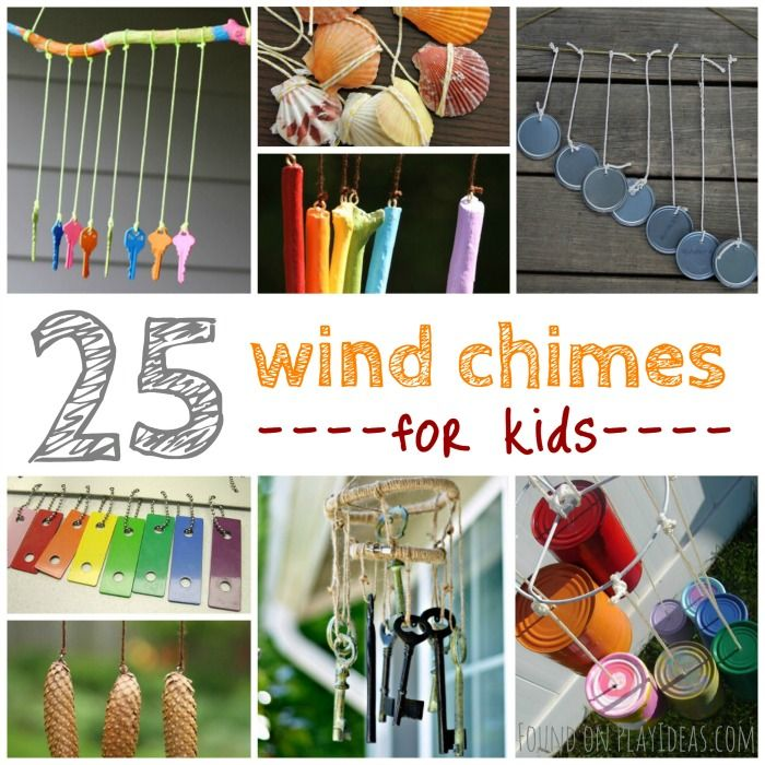 25 easy breezy wind chime crafts for kids crafts blog for Wind chime craft projects