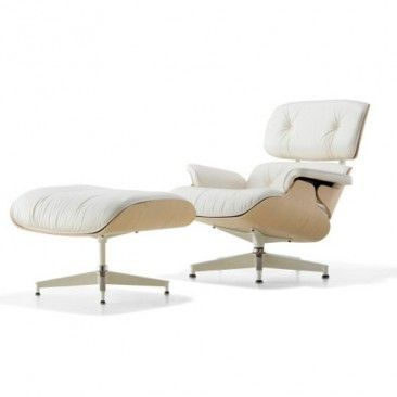 Eames Lounge Chair in White Ash, Lounge Chairs & Herman Miller Chair | YLiving