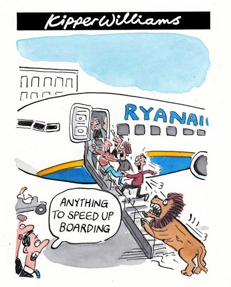 Air Travel Cartoons | Kipper Williams cartoon: Ryanair's boarding plans
