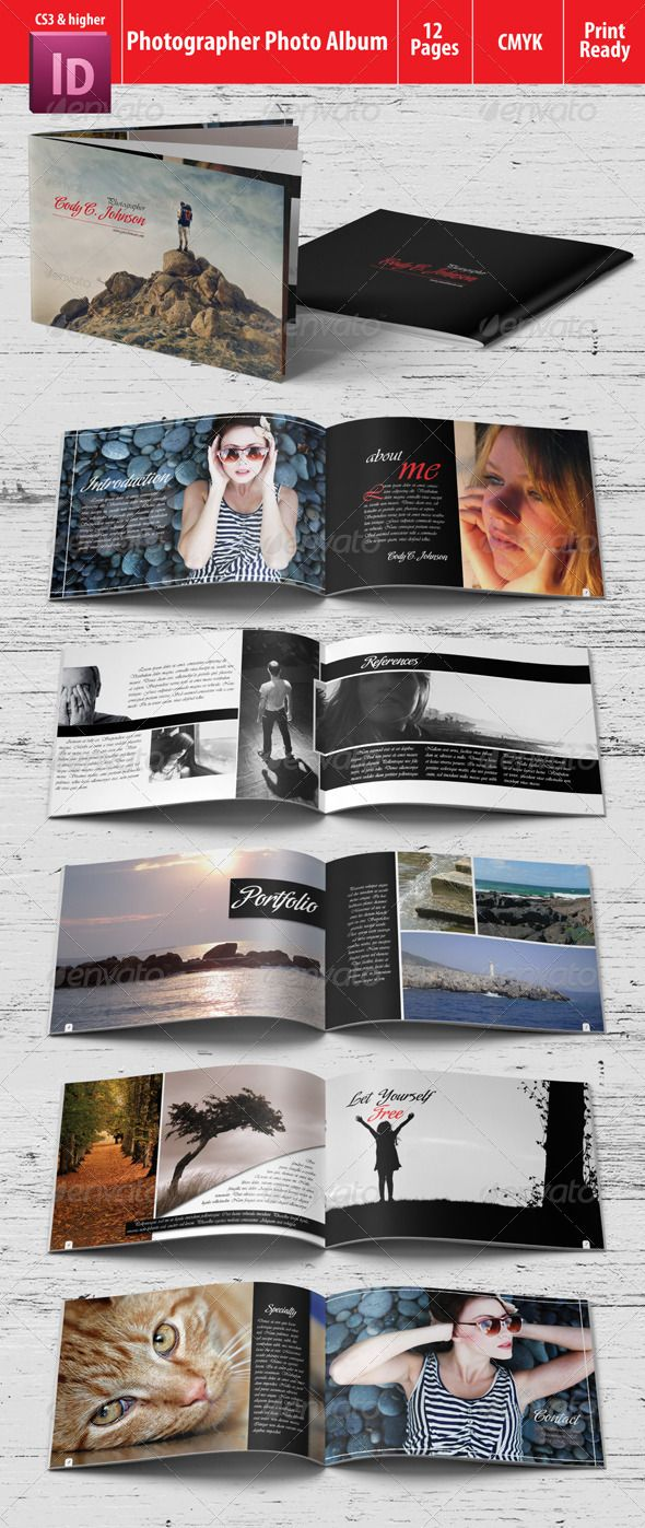 Photographer Photo Album - Photo Albums Print Templates