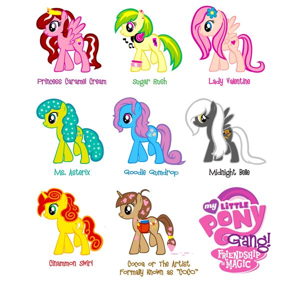 my little pony names - 600×574