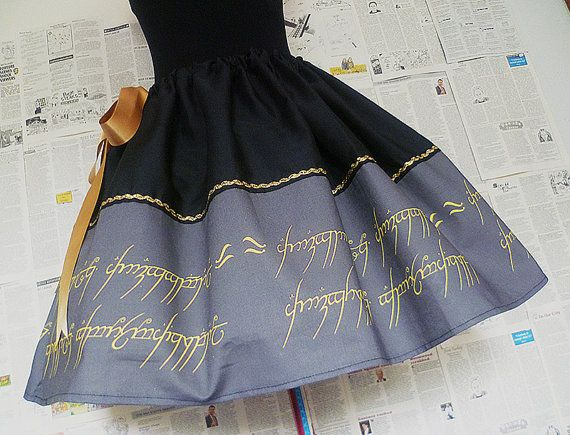 Lord Of The Rings Skirt Dress Lady Of The by RoobyLane on Etsy, £35.00