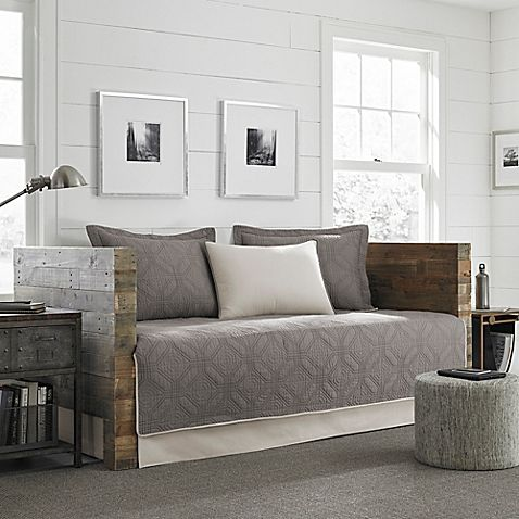 Eddie Bauer® Axis Quilted Daybed Set in Grey