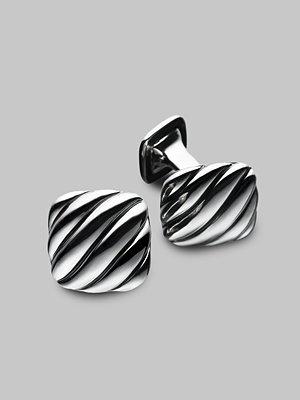 David Yurman - Silver Cushion Cuff Links - Saks.com