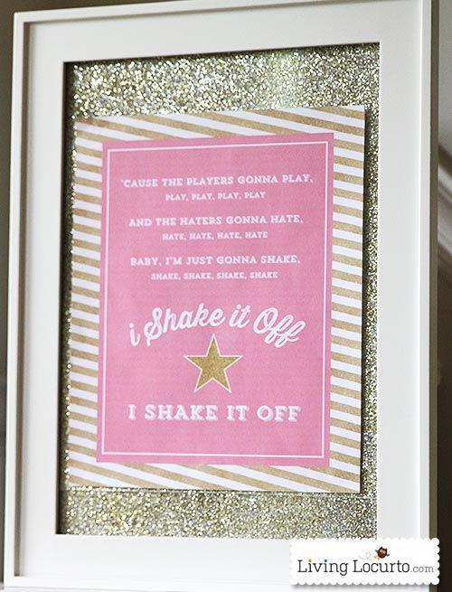 Shake It Off Free Printable Poster - Taylor Swift Fans will love it! LivingLocurto.com #freeprintables #freeprintable