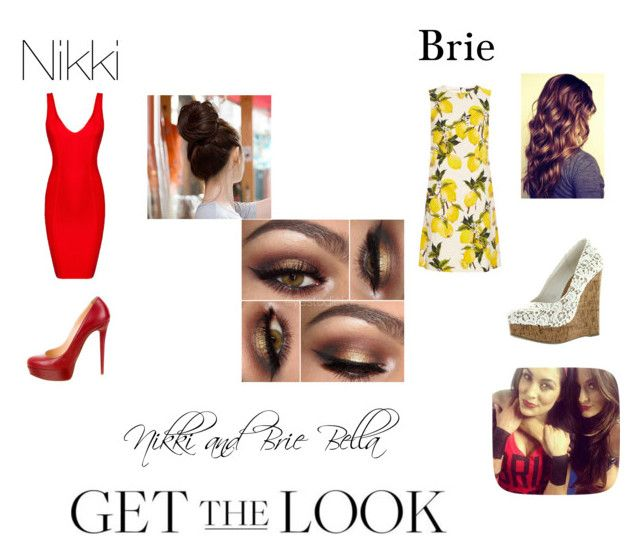 """""""Nikki and Brie Bella"""" by kaylaleann22 ❤ liked on Polyvore featuring Posh Girl, Christian Louboutin, Dolce&Gabbana, GetTheLook and celebritysiblings"""