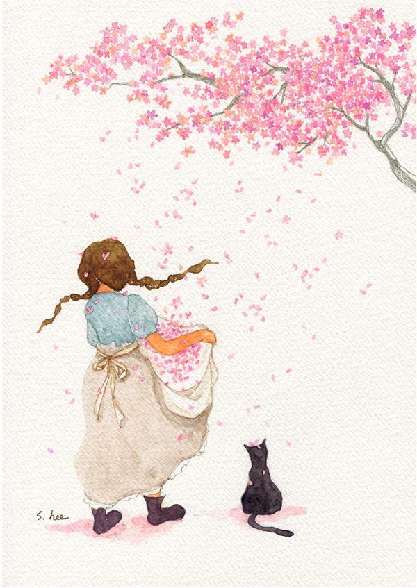 그 날... 너와 나의 머리 위로 꽃비가 내렸지......