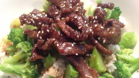 A delicious crispy and sweet, yet mildly spiced beef stir-fry recipe served with steamed rice and broccoli.