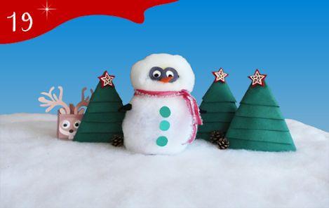 Jour 19 : oooh ! Notre minion s'est déguisé en bonhomme de neige ! - CREAKIT Loisirs Créatifs
