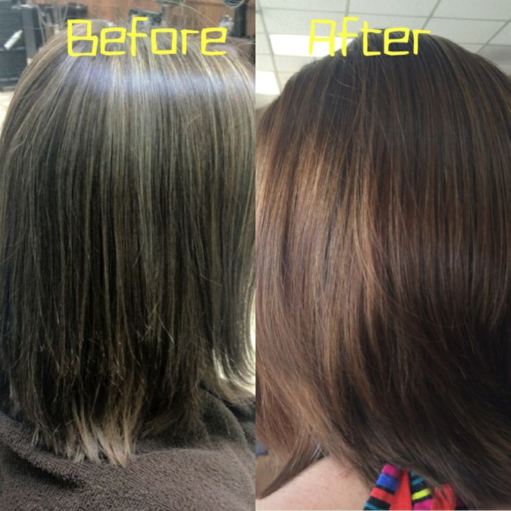 Image Gallery Hair Glaze Of Hair Color Glaze Before And