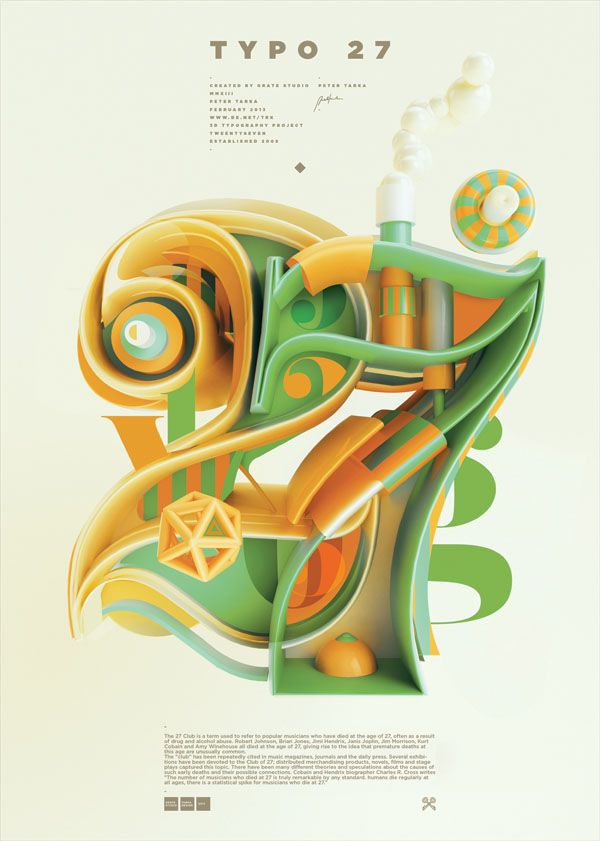 Typography Projects by Peter Tarka - WE AND THE COLOR - 3D Typography Design Modelling