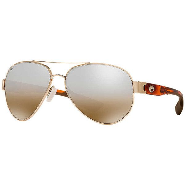 Costa Del Mar South Point 59 Gold Aviator Sunglasses ($219) ❤ liked on Polyvore featuring accessories, eyewear, sunglasses, gold sunglasses, costa eyewear, gold aviator sunglasses, aviator sunglasses and aviator style sunglasses