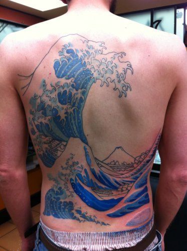 Japanese wave tattoo by luke olczyk all star tattoo 8601 for All city tattoo