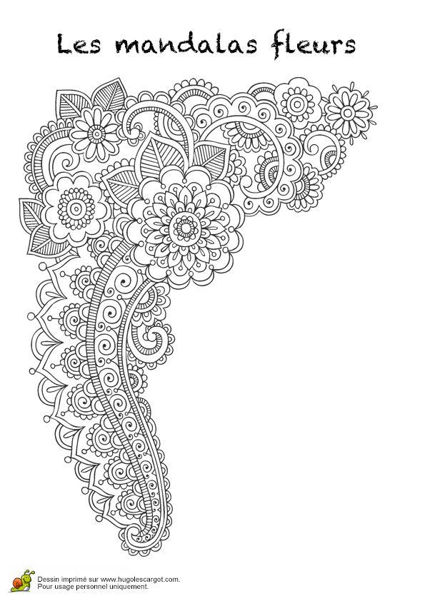 1000 id es sur le th me coloriages de fleurs sur pinterest - Hugolescargot com coloriage ...