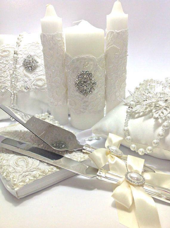 Conjunto Elegance blanco boda: Lazo de perlas de por AVAandCOMPANY