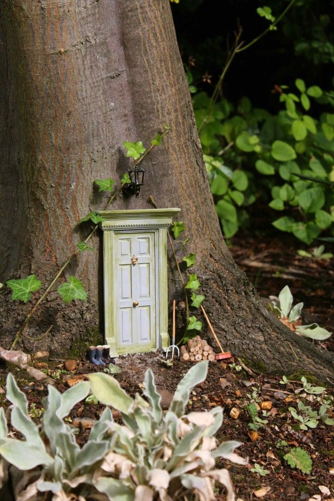 The Secret Fairy Door. Tutorial for how to use doll house materials to create magical fairy doors and play areas in your garden or yard